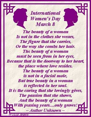 Image result for international women's day quotes poems