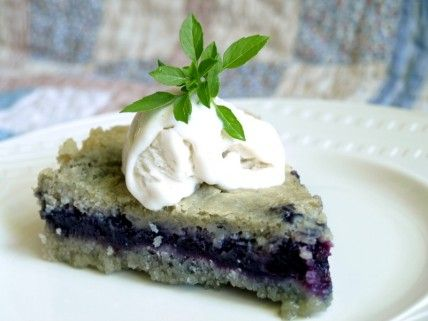 Gluten-Free Blueberry Cobbler Pie: Part cobbler, part pie. The healthy fat in coconut oil replaces butter.