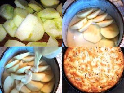 заливной пирог с яблоками рецепт