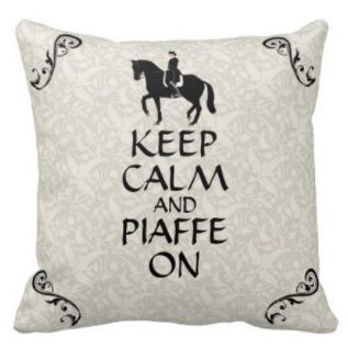 Only $31.00! Shop24seven365! Perfect for horse lovers, and dressage riders. Keep Calm and Piaffe On with this super cool cushion. For more great deals, or to purchase, visit www.shop24seven365.com.au