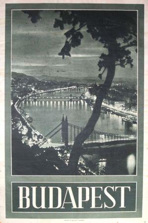 Budapest, 1930s travel poster