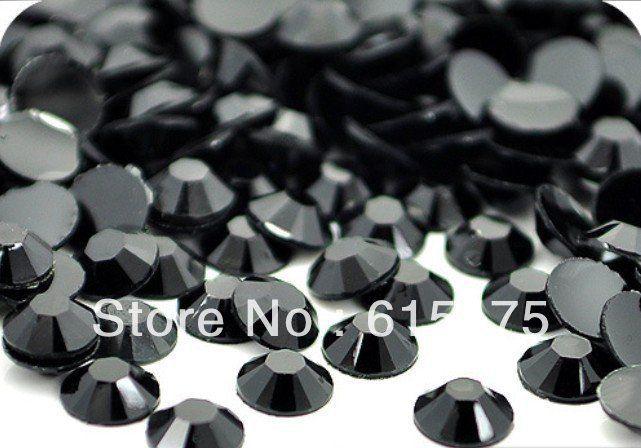 3mm Jet Black Color SS10 crystal Resin rhinestones flatback,Free Shipping 100,000pcs/bag #Affiliate