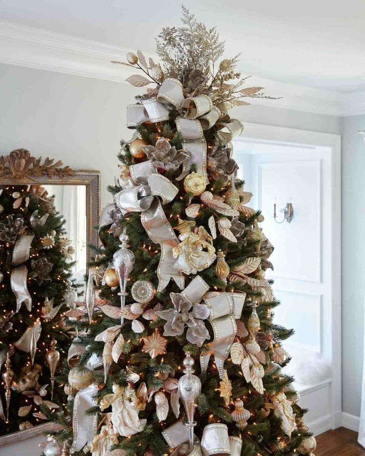 New Post simple gold and silver christmas tree