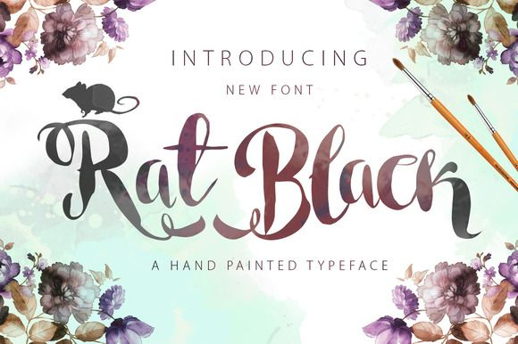Rat Black Painted Typeface by mr.rabbit on Creative Market
