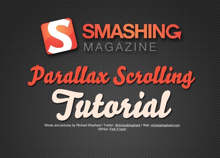 Parallax scrolling tutorial.