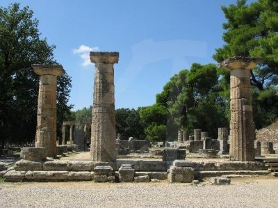 Temple of Hera, Ancient Olympia.  Athens, Greece
