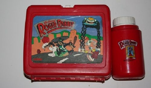 1987 Walt Disney Co. Who Framed Roger Rabbit Lunch Box and Thermos