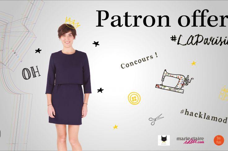 Un patron gratuit de robe LAParisienne à télécharger et un concours associé avec 1000€ de lots à la clé !