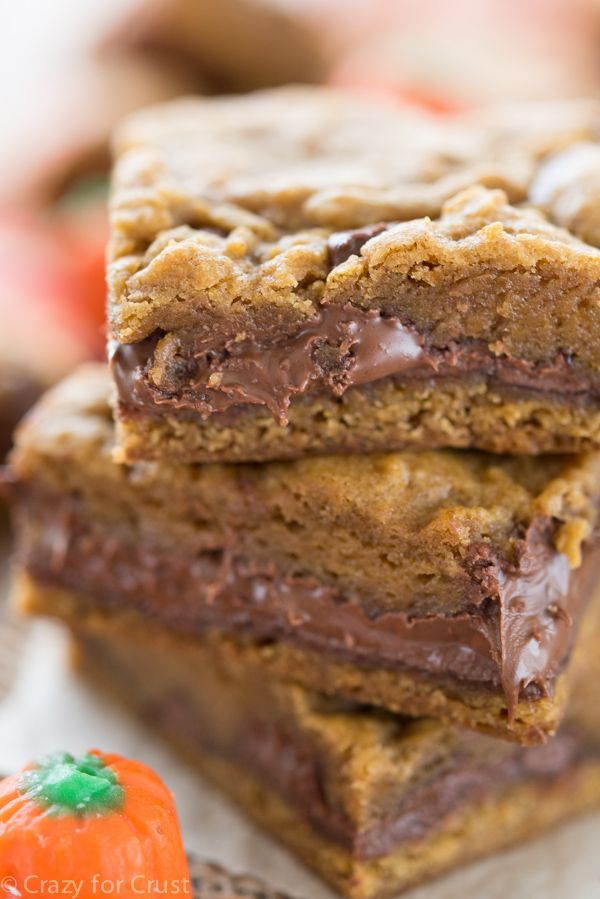 Gooey, rich Nutella sandwiched between soft pumpkin cookie dough layers is lip-licking good. Who wouldn't want to bite into these beauties?