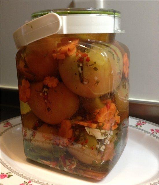 Фаршированные зеленые помидоры на зиму / Заготовка томатов / TVCook: пошаговые рецепты с фото