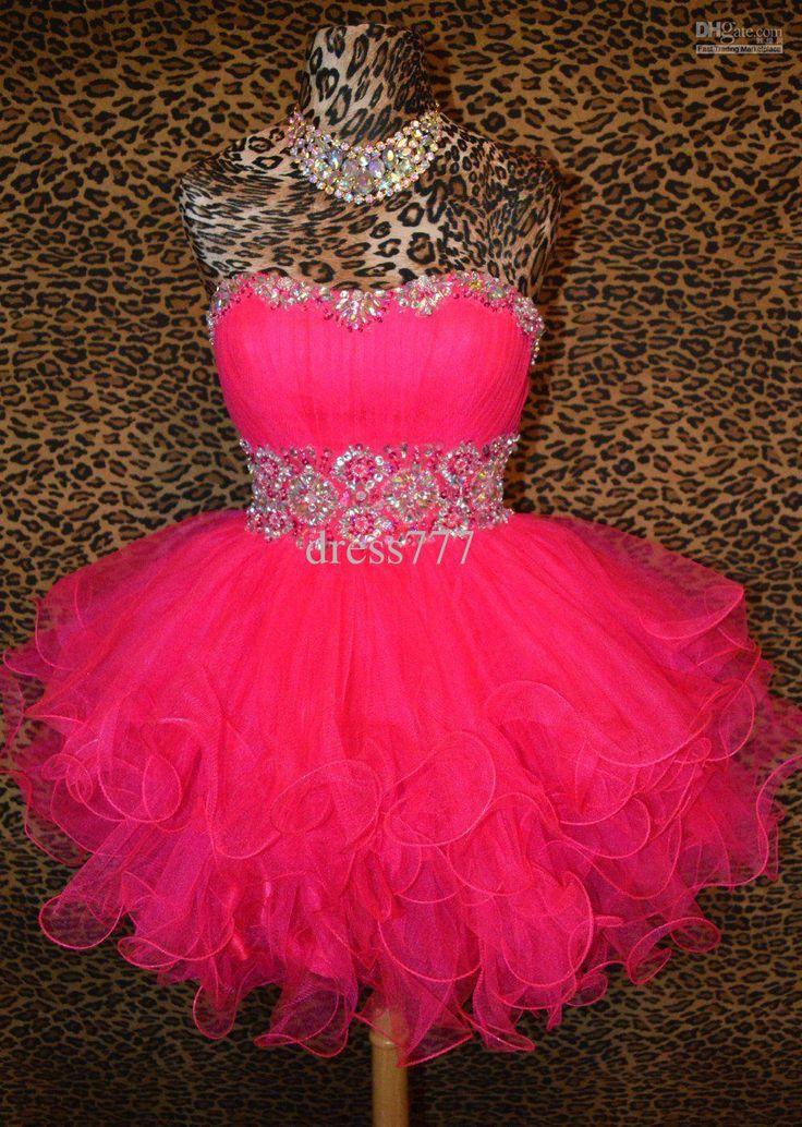 Fuschia Pink Short Prom Dresses