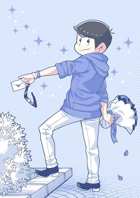 おそ松さん Osomatsu-san カラ松「BLUE」/「うさぽんぬ」のイラスト [pixiv]
