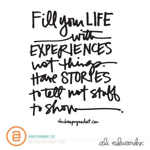 Ali Edwards | Blog: Give Sunday | 27