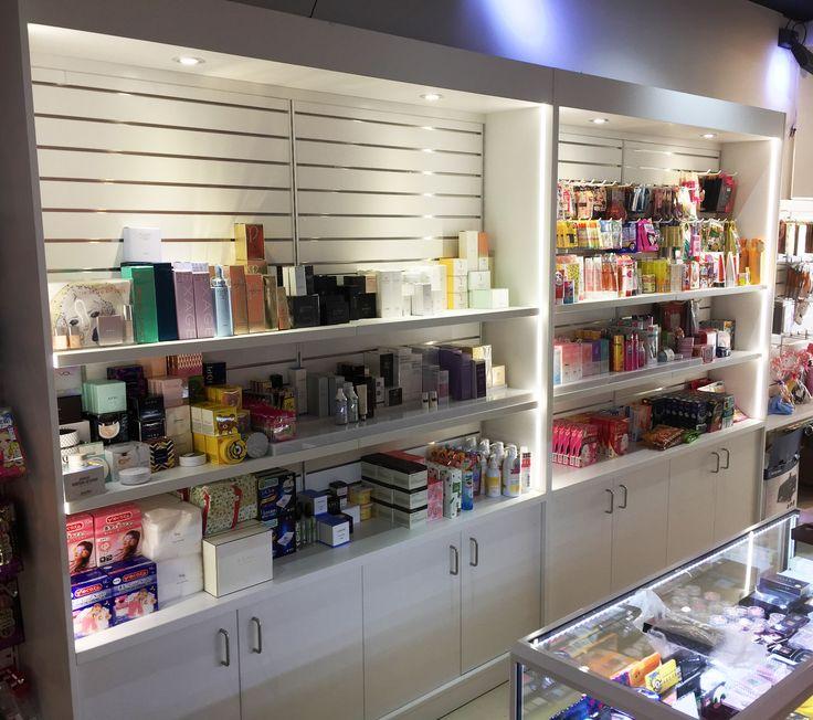 #sfsi #pudgypanda #cosmetics #install #MAXe #custom #cabinetry #slotwall #white #cupboards #lighting #lights #shelving