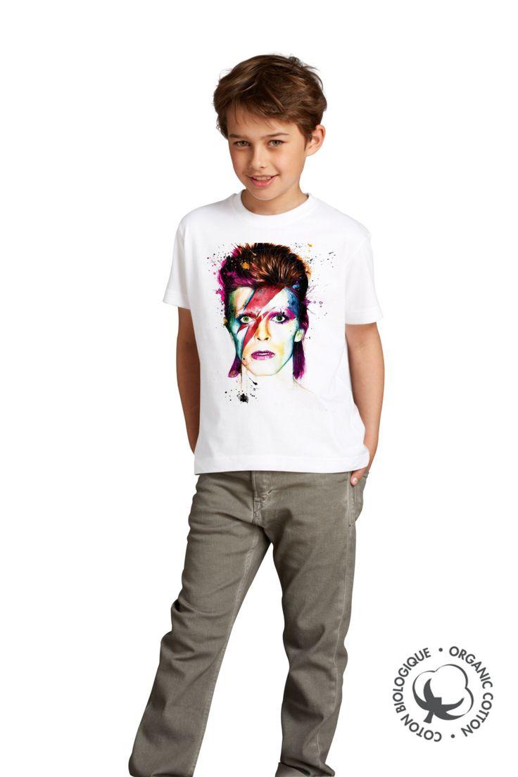 """t shirt david bowie - david bowie - T-shirt enfant -""""david bowie design""""- t…"""