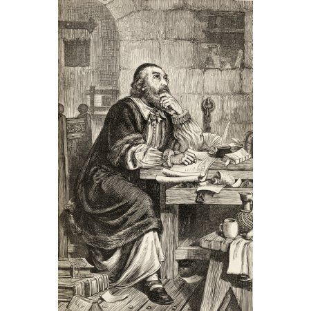 nicholas ridley writing letters in prison whilst awaiting his execution nicholas ridley c 1500 to 1555 english bishop of london from the book of martyrs by