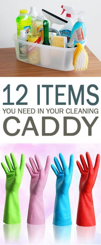 12 Items You Need in Your Cleaning Caddy - 101 Days of Organization