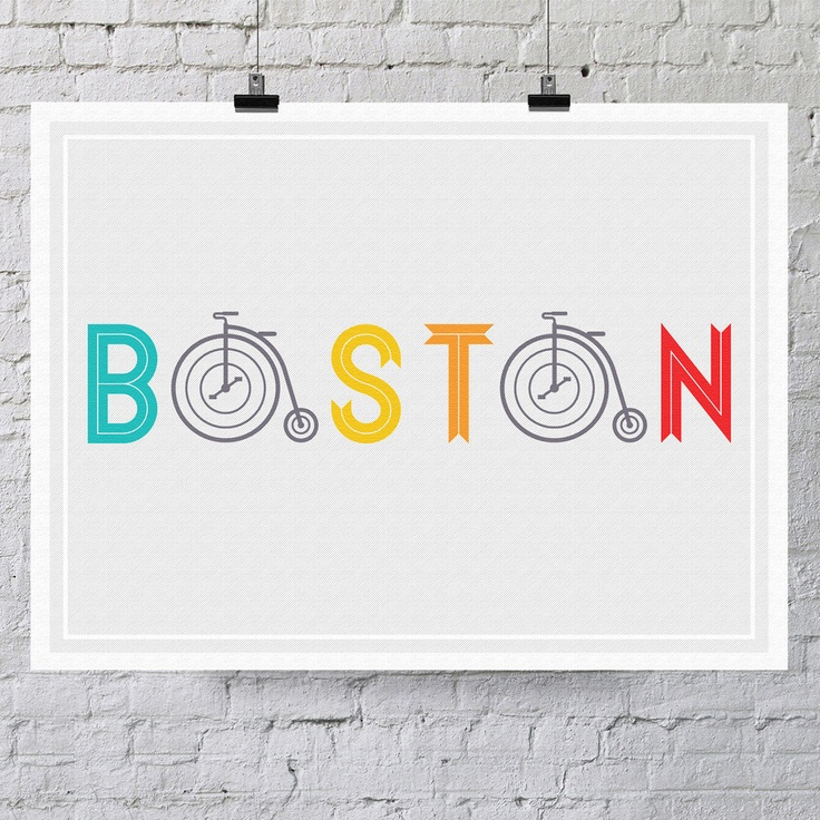 Absolutely adore this - between the colors, the type and the bicycles. Perfection.