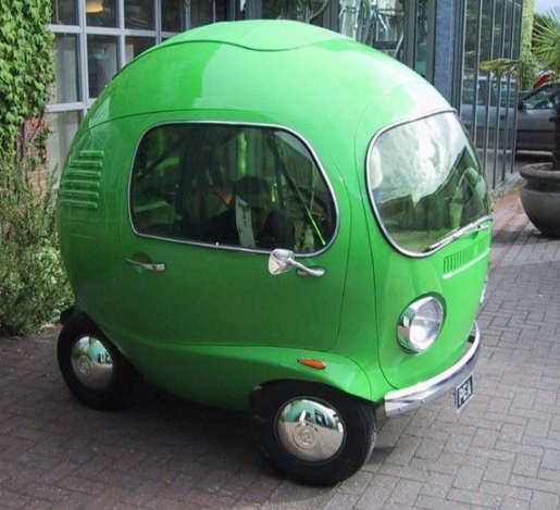 A ball shaped car is perfect for any small, lonely person. This car fits one…