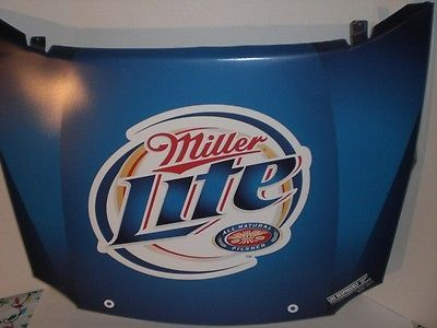 Miller Lite Beer Racing Hood Tin Bar Sign Things For A