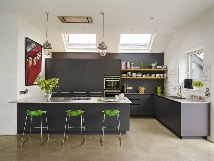 [Kitchen] : Modern Kitchen Inspiration With Assorted Color Along With A  Couple Of Bronze