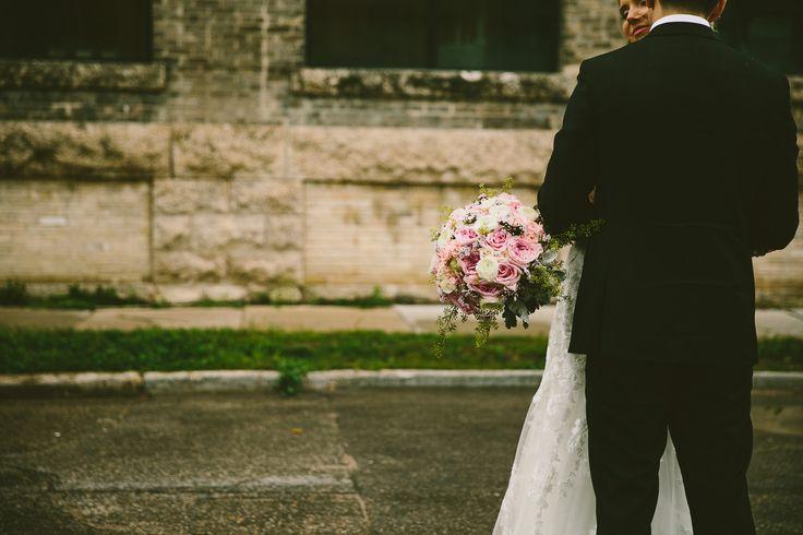 Beautiful pink blooms in the historic Exchange District, Winnipeg, Manitoba Photo by Kampphotography #winnipegweddings #wedding #inspiredeleganceevents #bride #groom #blush #gold #weddinginspiration