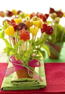 Las recetas de Blanca: Macetas de frutas JOSUNE