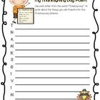 "Have students take a moment to remember all the blessings in their lives with this Thanksgiving Day acrostic poem.   This product includes -One ""Th..."