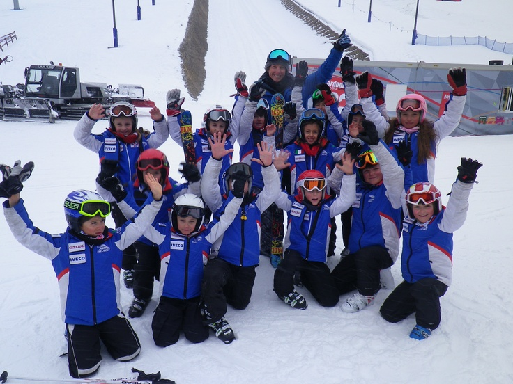 Marco having fun with the kids from bardonecchia