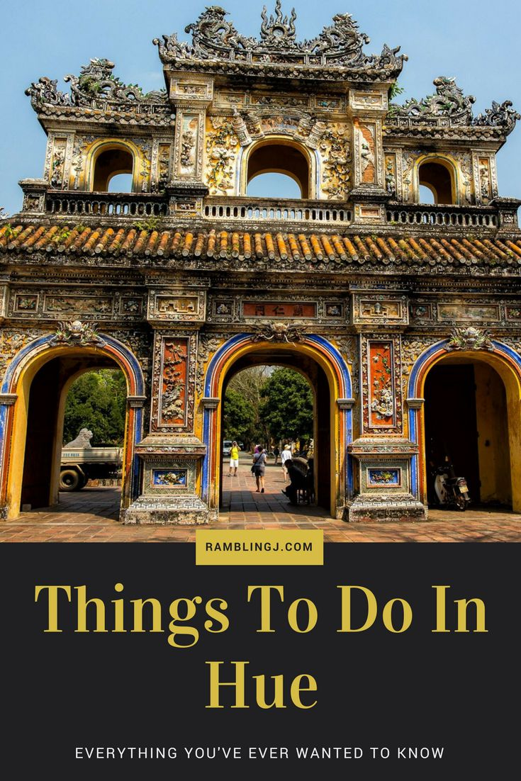 Everything You've Ever Wanted to Know About Things To Do In Hue Vietnam.  Hue serves as the home to seven imperial tombs and even the ancient imperial city. It suffered badly during Vietnam War, with the Battle of Hue considered as among the deadliest and longest battles. Aside from human casualties, a lot of historic sites were also destroyed or damaged during the battle.