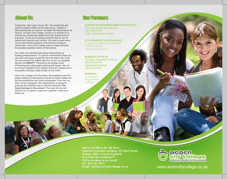 Acorn College Brochure By Deejay Designz  Design