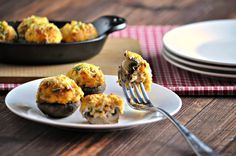 Crab stuffed mushrooms with bacon