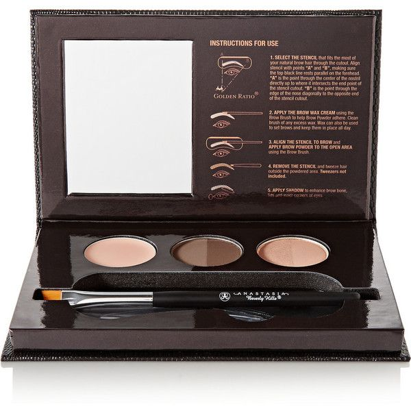 Anastasia Beverly Hills Beauty Express for Brows and Eyes - Brunette ($42) ❤ liked on Polyvore featuring beauty products, makeup, eye makeup, brown, anastasia beverly hills makeup, brow kit, eyebrow wax kit, wax kit and eyebrow cosmetics