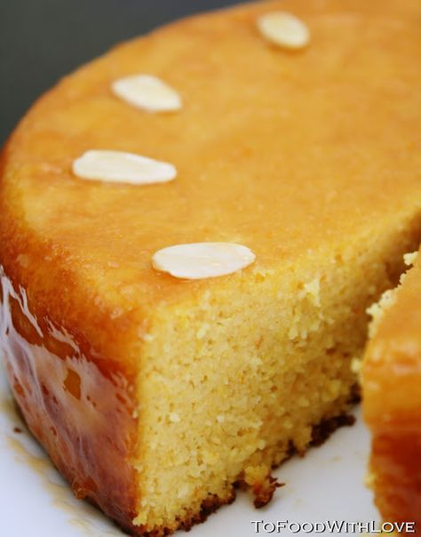 Orange and almond cake, brushed with an apricot glaze This is a lovely cake, which I found is best eaten cold 1-2 days later. It keeps w...