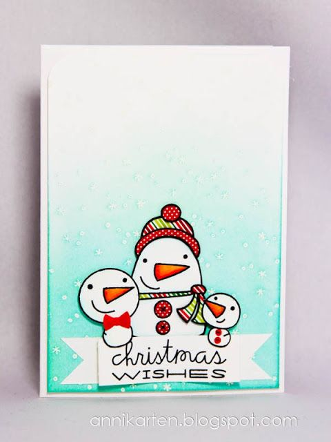 Christmas Wishes card by Anni - Paper Smooches - Freezy Fellas, All Yule Need
