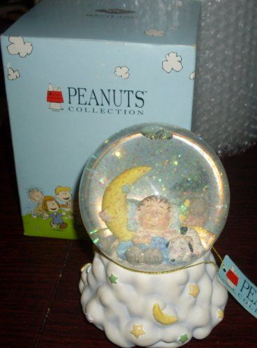 Lullaby for Linus Peanuts Snoopy Musical Snowglobe @ niftywarehouse.com #NiftyWarehouse #Peanuts #CharlieBrown #Comics #Gifts #Products