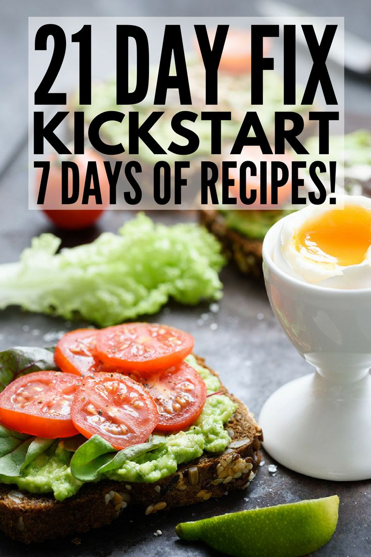 21 Day Fix Meal Plan for Beginners | Get started with the 21 Day Fix Diet TODAY with this comprehensive guide, which includes the foods you can and cannot eat, food prep basics, and a simple 7-day meal plan with easy recipes to make week 1 a success! We have easy-to-make breakfast, lunch, dinner, and snack recipes you'll love, and with the aide of your 21 Day Fix containers, losing weight will never taste so good! #21dayfix #21dayfixrecipes #weightloss #healthymeals #cleaneating