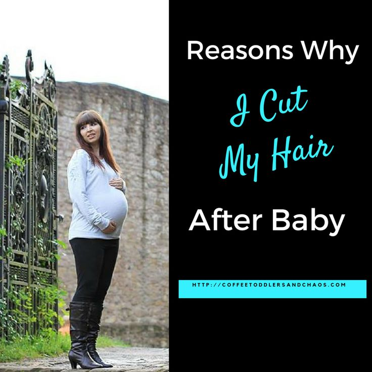 Postpartum hair loss was the main reason for cutting my hair after baby. Click to see the haircut and products used to help combat postpartum hair loss.