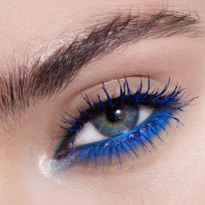 Blauwe eyeliner