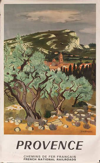 DP Vintage Posters - Original French Travel Poster Provence,Yves  Brayer