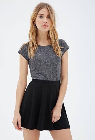 Knit Skater Skirt | FOREVER21 Size Small/Black
