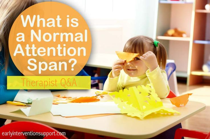 What is a Normal Attention Span? Therapist Q&A   Early Intervention Support