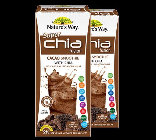 CHIA FUSION - just like a chocolate milkshake only Chia!