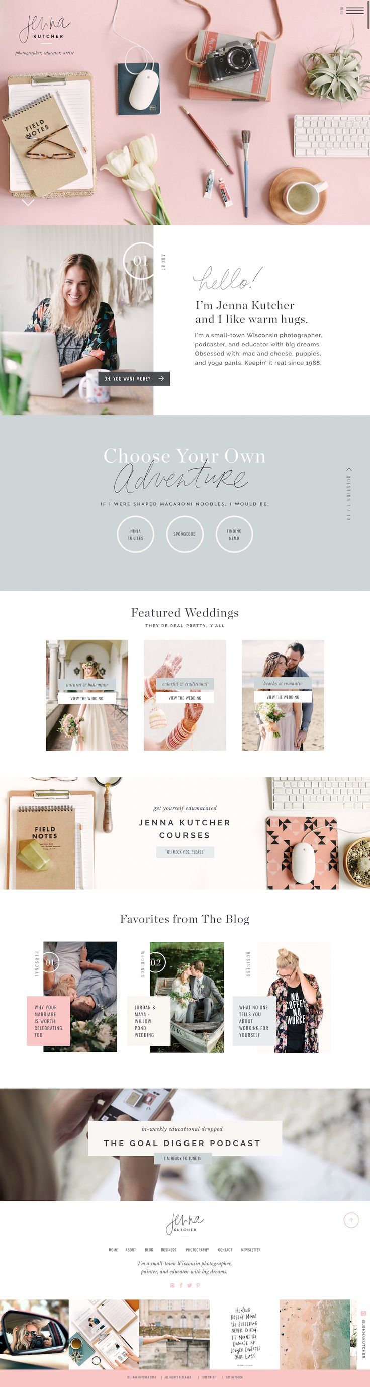 Top website design! Jenna Kutcher ShowIt website designed by Jen Olmstead
