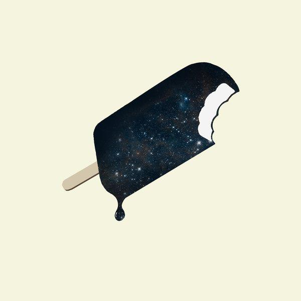 Space MelterGalaxies, Spaces Melter, Illustration, Ice Cream Bar, Art Prints, Zach Terrell, Design, Icecream, Milky Way