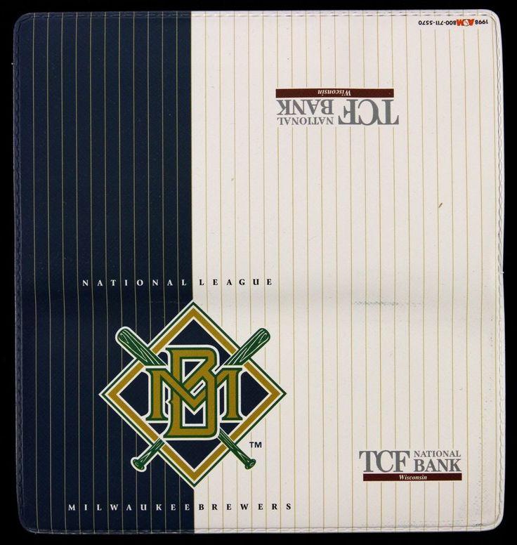 1998 TCF national bank wisconsin Milwaukee Brewers Checkbook Cover #MilwaukeeBrewers
