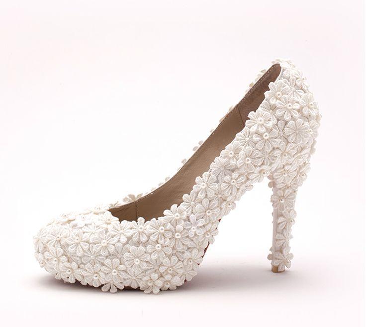 Роскошный белый цветок бального танца туфли на высоких каблуках 2015 новые сандалии для женщин на высоких каблуках элегантный свадебные обувь