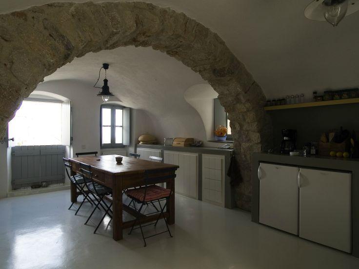 Kitchen at Villa Ariadni in Kithyra; http://instylevillas.net/property/ariadni-villla-kythira/