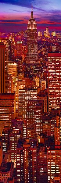 Admire the city lights in NYC. New York City now.