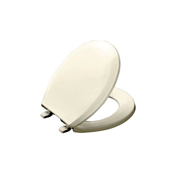 Kohler K-4662 Lustra Q2 Round Closed-Front Toilet Seat with Quick-Release and Qu Biscuit Accessory Toilet Seat Round